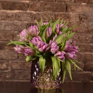 Tulpenstrauß in pink/violett